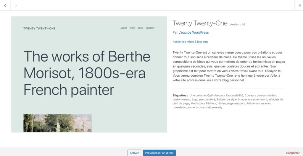 theme twenty one wordpress 5.6