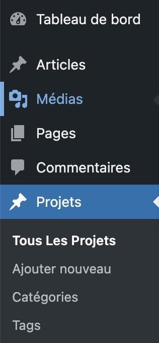 Gérer des projets/portfolio avec DIVI fonctionnement